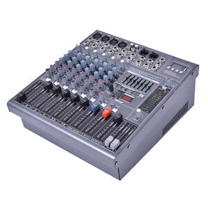 12 professional 8 channel music studio digital mixer live performance console 6940350842421 ebay. Black Bedroom Furniture Sets. Home Design Ideas