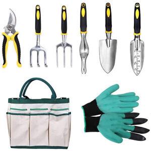 Garden Tools Set-9 / 5 / 8 Piece Cast-Aluminum Heavy Duty Gardening Kits