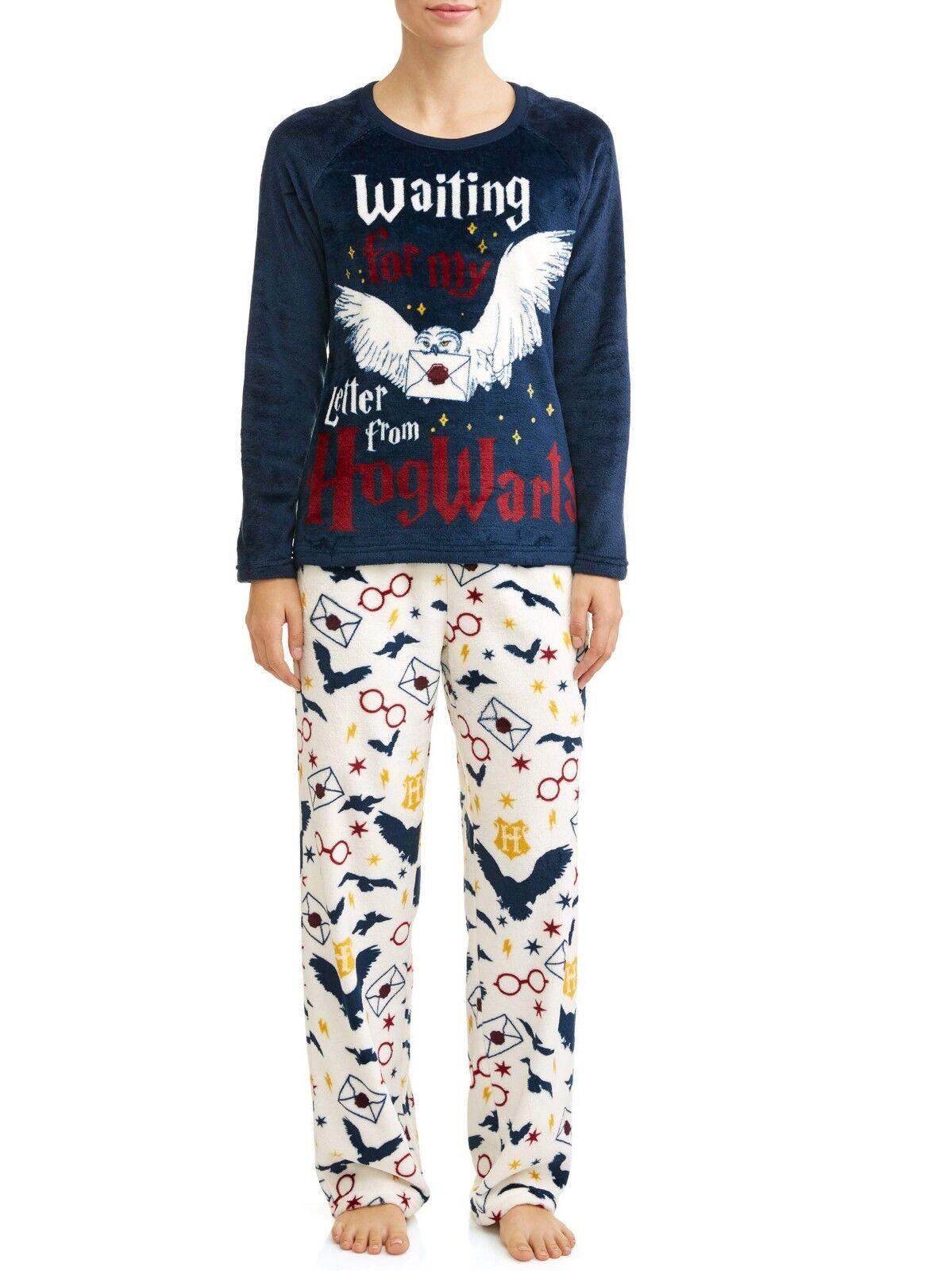 Harry Potter pajamas womens 3X set plush fleece hogwarts 22W 24W new bx4H6