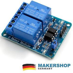 2-Kanal-Relais-Modul-Arduino-Raspberry-Pi-Relaiskarte-5V-230-Volt-230V-Board