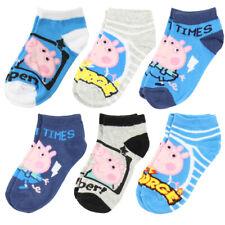 9-12, Pirate George Blue Stripes Peppa Pig Socks