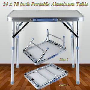 Folding Table With Handle.Details About Height Adjustable Folding Portable Table With Handle Picnic Party Camping To