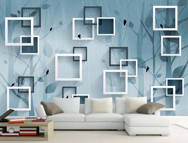 3D Kunstrahmenbaum 843 Tapete Wandgemälde Tapete Tapeten Bild Familie DE Summer