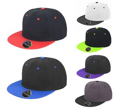 2 Farbige Snapback Cap Baseball Cap Basecap Flacher Schirm Günstig Promotion