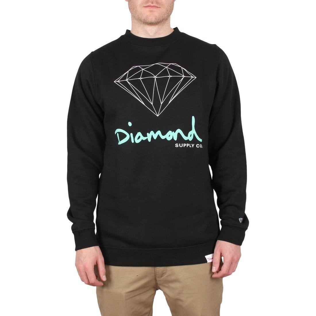 Diamond Supply Co OG Sign Crew Sweater - schwarz