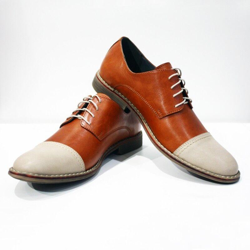 Modello Regda - Handmade Italian Farbeful Italian Handmade Leather Oxford Dress schuhe braun a0f800