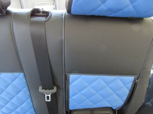 FORD TRANSIT MK7 2006-2012 RHD or LHD BLUE ECO LEATHER Seat Covers 2+1