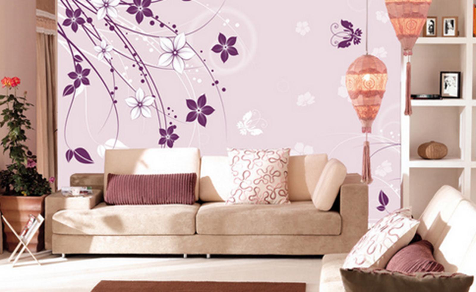 3D Squid lila 6874 Wallpaper Murals Wall Print Wallpaper Mural AJ WALL UK Kyra