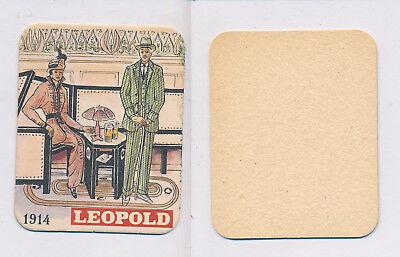 1 Brussel-elsene 18967 Brasserie Leopold Bierdeckel Beercoasters Hindernis Entfernen