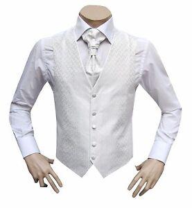 AgréAble Hommes Mariage Gilet 3 Pièces Taille 66 Blanc-afficher Le Titre D'origine êTre Nouveau Dans La Conception
