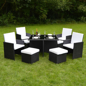 image is loading cube rattan garden furniture set chairs sofa table