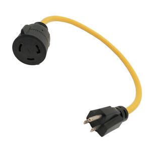 Parkworld-886689-Regular-15A-5-15P-Male-to-Generator-30A-Locking-L5-30R-Female