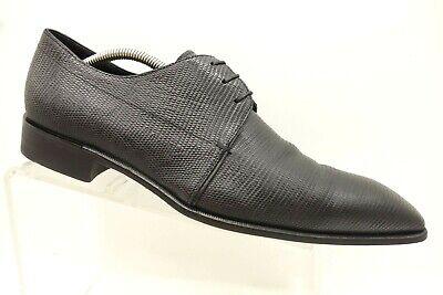 97432aadc74 Hugo Boss Black Lizard Print Leather Lace Up Dress Oxfords Mens 9.5 UK / US  10.5
