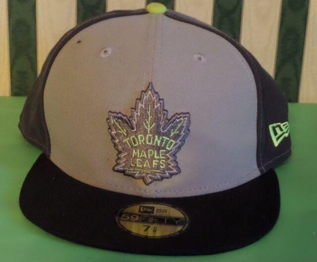 reputable site adbc8 c44ca Toronto Maple Leafs Hat Cap NHL Hockey New Era Custom Black Gray 59fifty 7 5