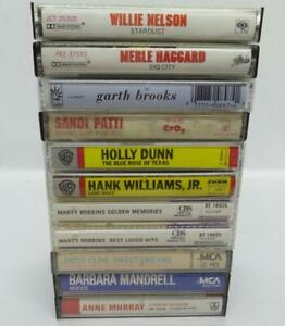 10-Country-Music-Cassette-Tape-Lot-Lot-223-Garth-Brooks-Hank-Williams-Jr