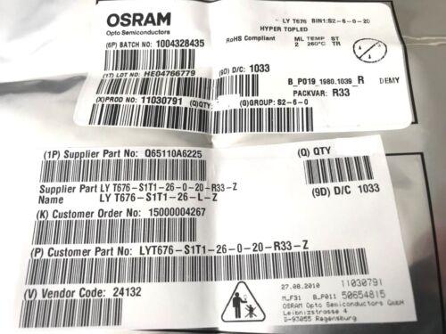 LYT 676-S2-6-0-20 LYT676 50 Stück LED SMD PLCC-2 HYPER TOPLED GELB OSRAM