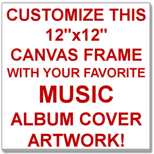 """Customize this 12/""""x12/"""" Canvas Print with Your Favorite Music Album Cover Artwork"""