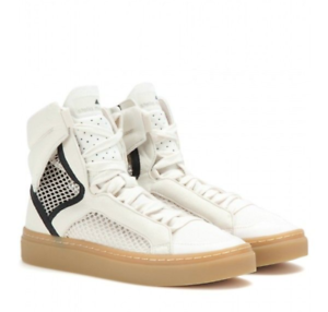 Stella McCartney Adidas Asamina Sneaker shoes Hi Top B35186 Cream Black size 7