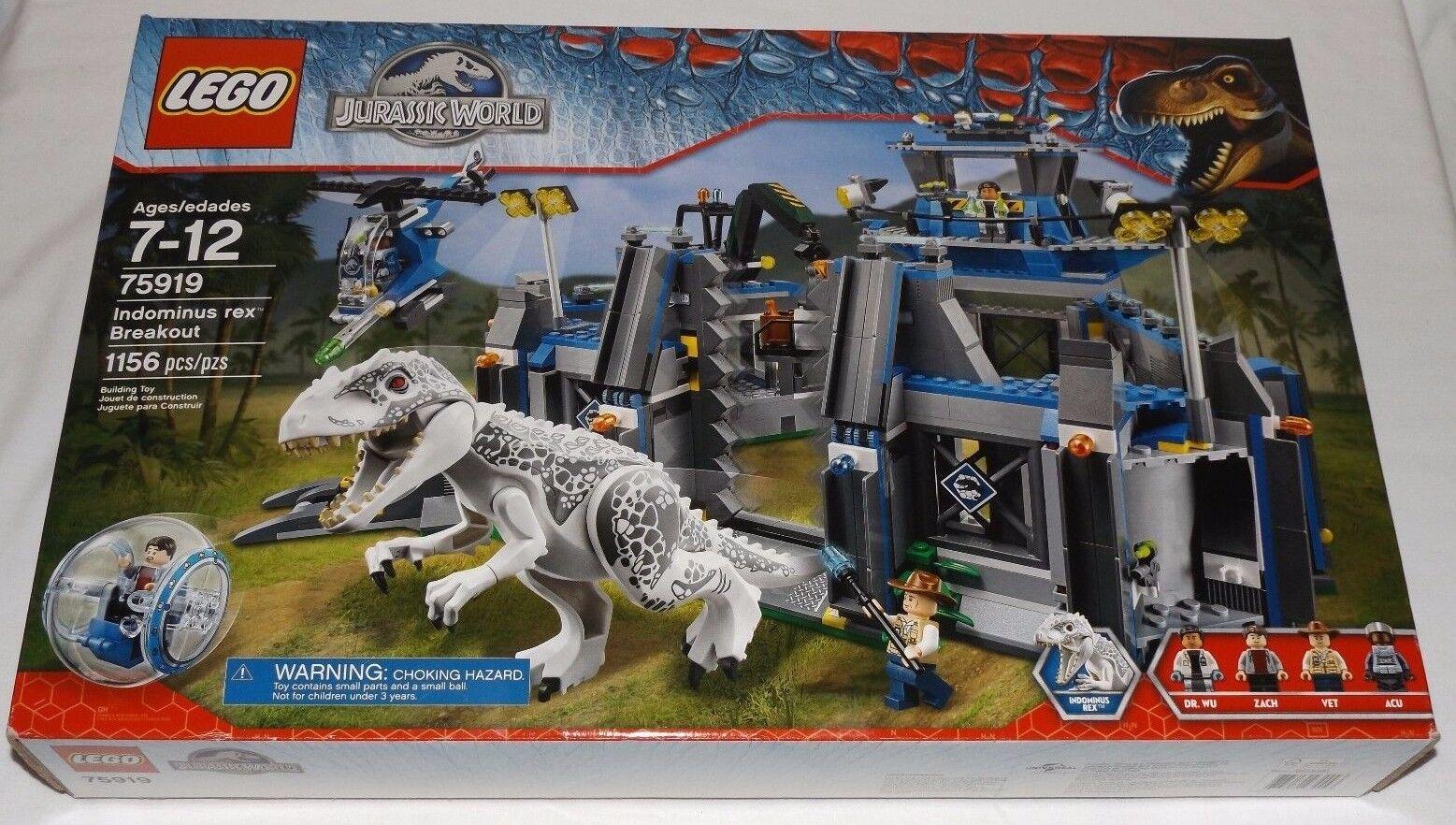 LEGO Jurassic World  INDOMINUS REX BREAKOUT 75919 Zach Dr. Wu Vet gyrosphere  coloris étonnants