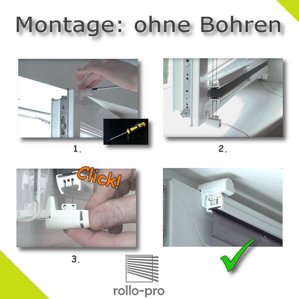 Plissee  GEMUSTERD    ohne Bohren nach Maß Plisee Faltstore Klemmfix Profil Eiche    Tragen-wider  61c4d4
