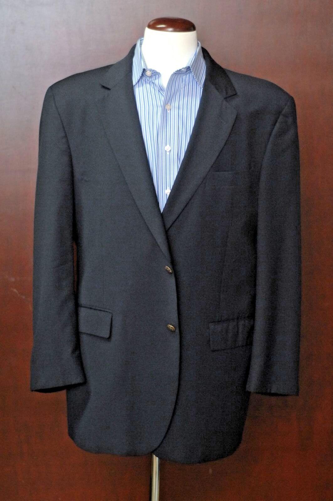 Jos. A. Bank Men's Solid Navy bluee Wool Blazer Sport Coat 44L 44 Long