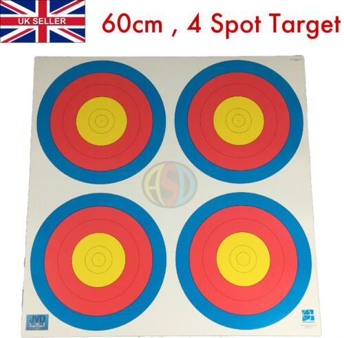 10 x Archery Target Fita 60CM 4 X Centre Faces Suitable for Bows & Crossbows