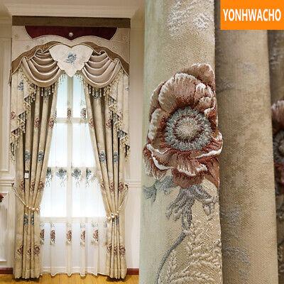 Modern European Embossed Living Room, Modern Valances For Living Room