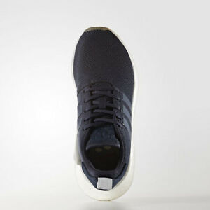 8a1fab5ad Women Adidas BY9316 NMD R2 Running shoes navy blue grey Sneakers