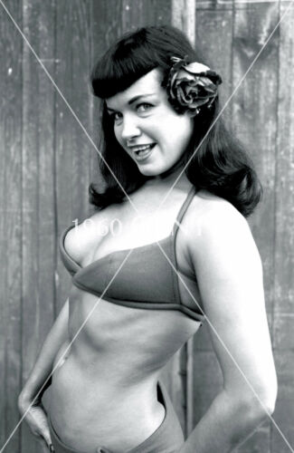1955 8X10 PHOTO BUSTY PINUP BETTIE PAGE FROM ORIGINAL NEG-LIMITED EDITION!!!
