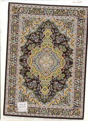 Rug XL18 dollhouse carpet miniature turkish Fashion Doll 1//8 scale woven fabric