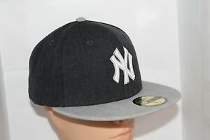 1f6f6ea39 New York Yankees New Era MLB Heather Action Navy 59fifty Fitted Sz ...
