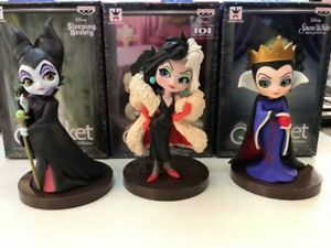 Maleficent Cruealla De Vil Evil Queen action figure toy model 3pcs//set villains