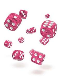 Oakie-Doakie-Dice-12mm-W6-Cube-Speckled-Pink-36-D6-Tabletop-Glitter-Pink