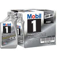 Mobil 1 Advanced Full Synthetic Motor Oil 0w-40 - 6 Pack Of 1 Quart Each