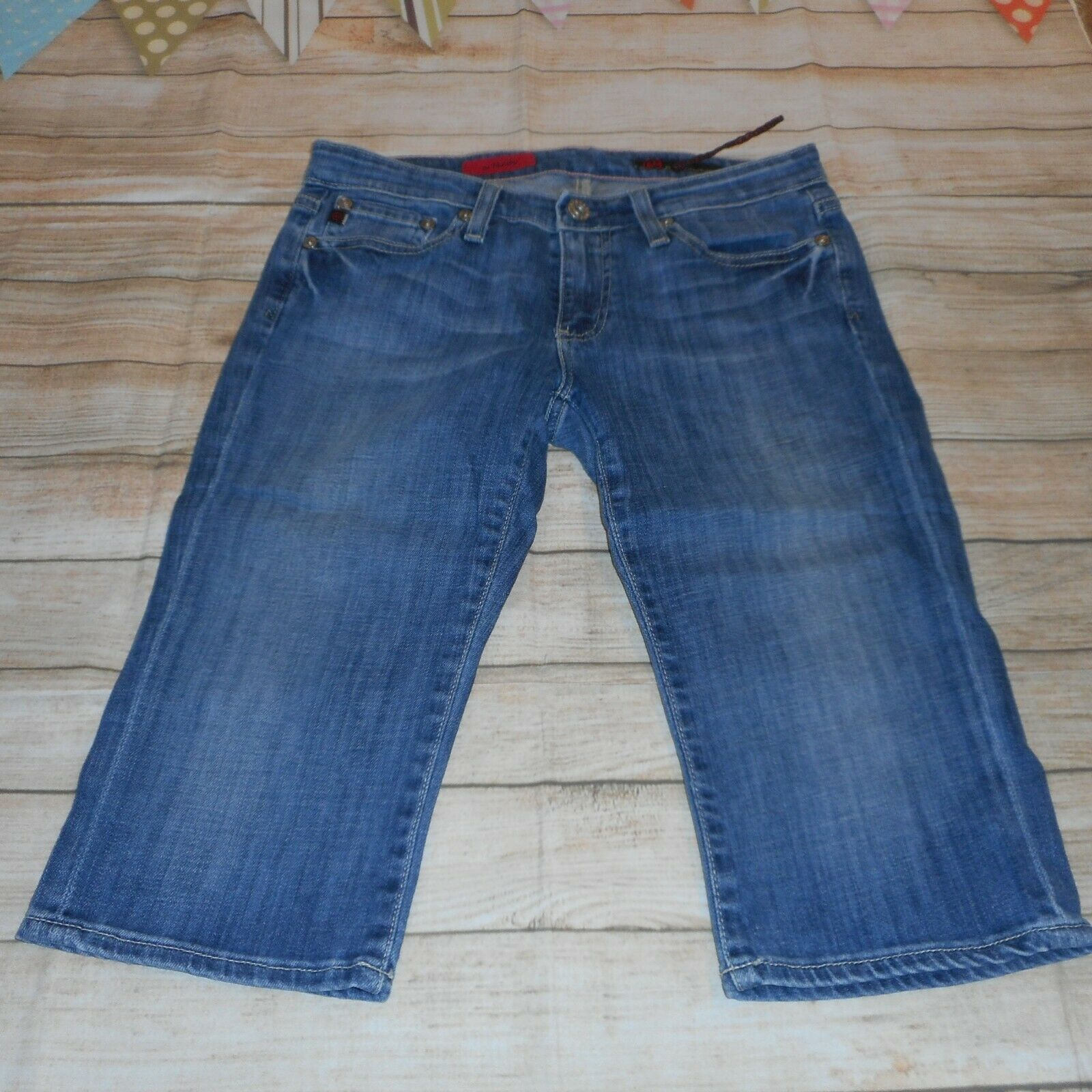 ADRIANO goldSCHMIED Sz 26 bluee Medium Wash Button Zipper Closure Jean Shorts