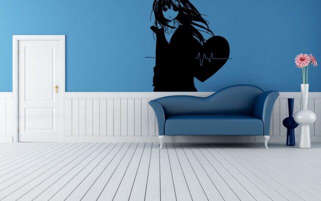 Wall Vinyl Sticker Decals Mural Room Design Art Anime Girl Heartbeat bo555