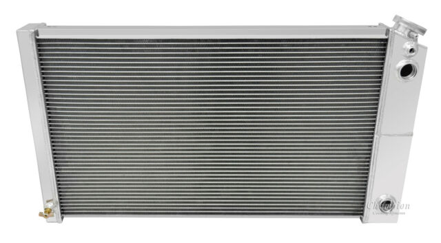 "1968-1978 Pontiac LeMans Champion Aluminum 2 Row Core Radiator /& Dual 14/"" Fans"