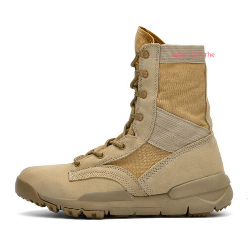 Men Military Army Genuine Cowhide Tactical Boots Desert Work Combat Hiking Shoes