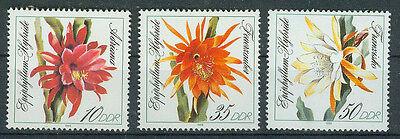 Ddr Briefmarken 1989 Blattkakteen Mi.nr.3276-3278** Postfrisch Belebende Durchblutung Und Schmerzen Stoppen