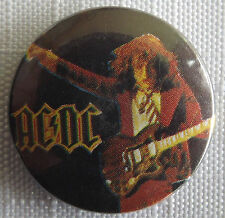 AC/DC Old/Vintage 1980`s 25mm Button Pin Badge Angus on stage  #NB.103