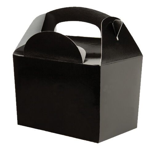 100 Black Meal Boxes Wedding Favour Childrens Birthday Party Food Snack Box