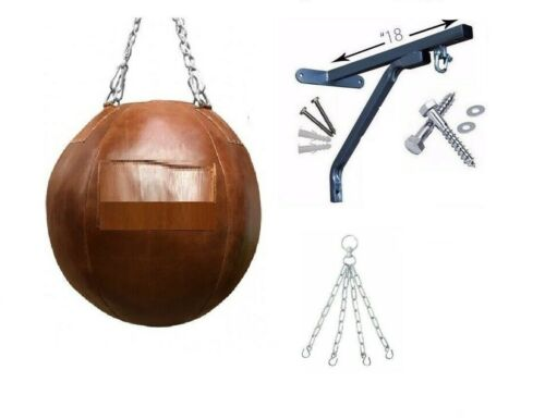 FREE CHAIN Maxx boxing Heavy Filled Wrecking ball punch bag set bracket mitts