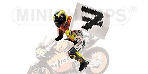 Valentino Rossi Riding Figure Winner GP Phillip Island 2003 WC MotoGP 2003 1 12