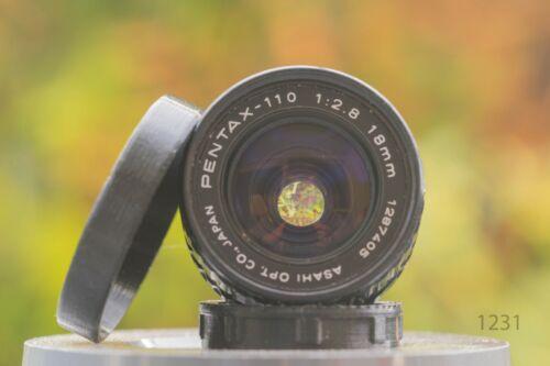 110 18mm f 2.8 DSLR puede ser adaptado pentax 110 Mount objetivamente F Asahi Pentax