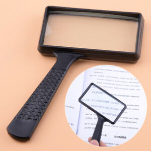Lese-Lupe-Rechteckig-10X-Vergroesserungsglas-Hand-Leselupe-Reading-Glass-Magnifier