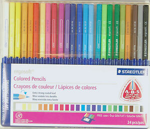 Staedtler Ergosoft Colored Pencils 24 Colors in Stand-up ...