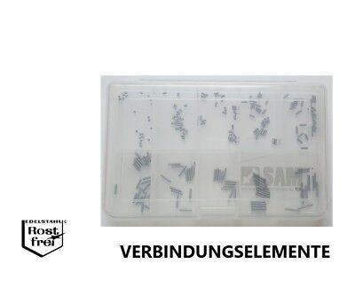 Kegelkuppe V2A M6  200 Teile Madenschrauben Sortiment DIN 913 Innensechskant u