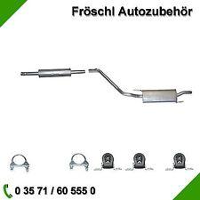 VW Golf 3 1,4 1,6 1,8 Abgasanlage Auspuffanlage Auspuff & 5 Kit Teile 2 Schellen