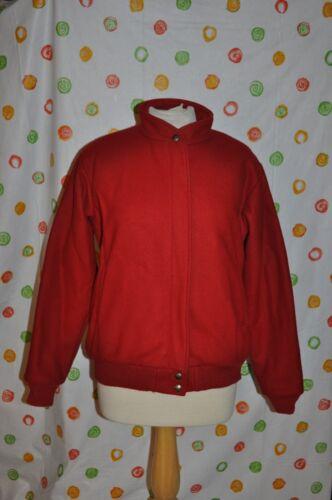 Winter Lined Red Usa Kvinder Coat Bomber Bean Fun Wool Medium L Biker Cpq441