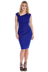 e06806342d9ee Image is loading ASOS-BLUE-PLUS-SIZE-SIDE-PLEAT-DETAIL-SLEEVELESS-